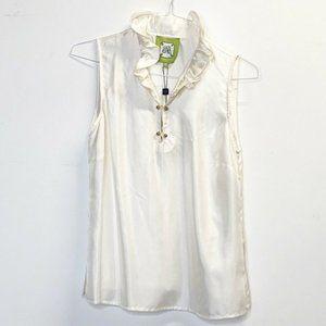 Elizabeth McKay Silk top  blouse of white sz 10